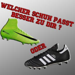 Fußballschuhe vergleichen - welcher Schuh passt besser zu DIr ?