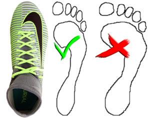 Der richtige Fußballschuh - die Fußform gibt den Ausschlag